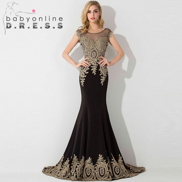 HOT SALE vestido de festa Prom dresses 2021 Long Mermaid Dresses Gold Appliques Royal Blue Kaftan Dubai dress Formal Party Dress 6