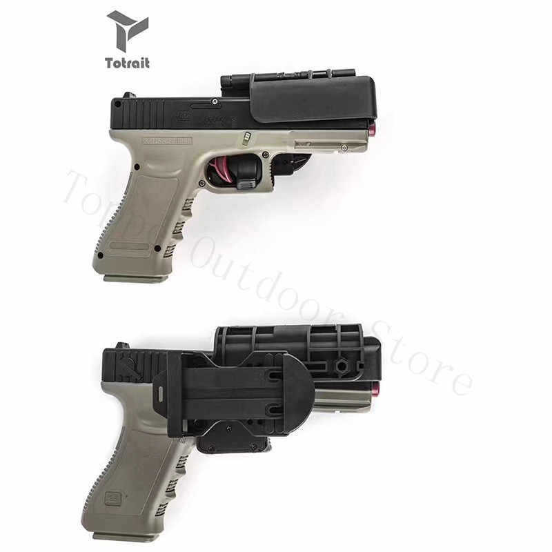 TOtrait Neue OWB Zustand 3 Tragen Schnell Holster Fit Glock17 & 22/Glock19 & 34 Jagd Holster Taille Airsoft pistole Holster Rechten Hand