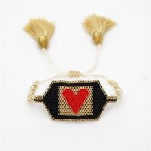 Go2boho MIYUKI Bracelet For Women Love Jewelry Friends Pulseras Mujer 2019 Bracelets miyuki joyeria Gold Stainless Steel Beads