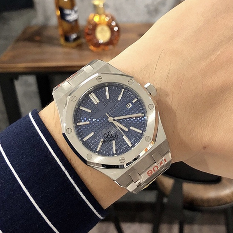 Luxury Brand Rhombus 41mm Automatic Mechanical Watches Stainless Steel Sapphire Men Watch