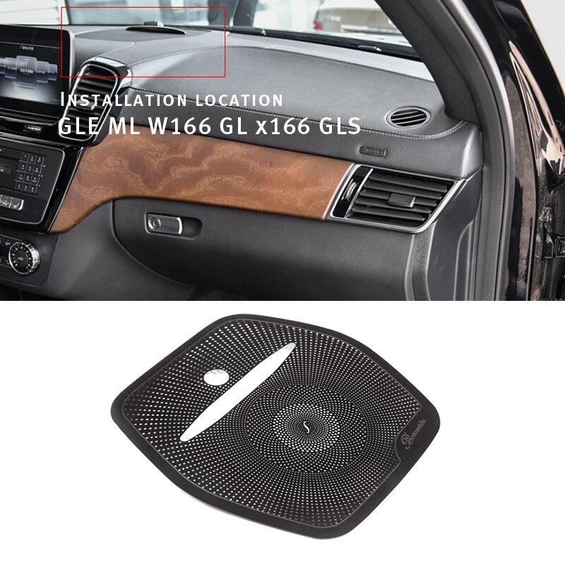 Voiture style voiture haut-parleur déco voiture Audio autocollant pour Mercedes Benz GLE ML W166 GL X166 GLS voiture stéréo couverture Auto garniture intérieur
