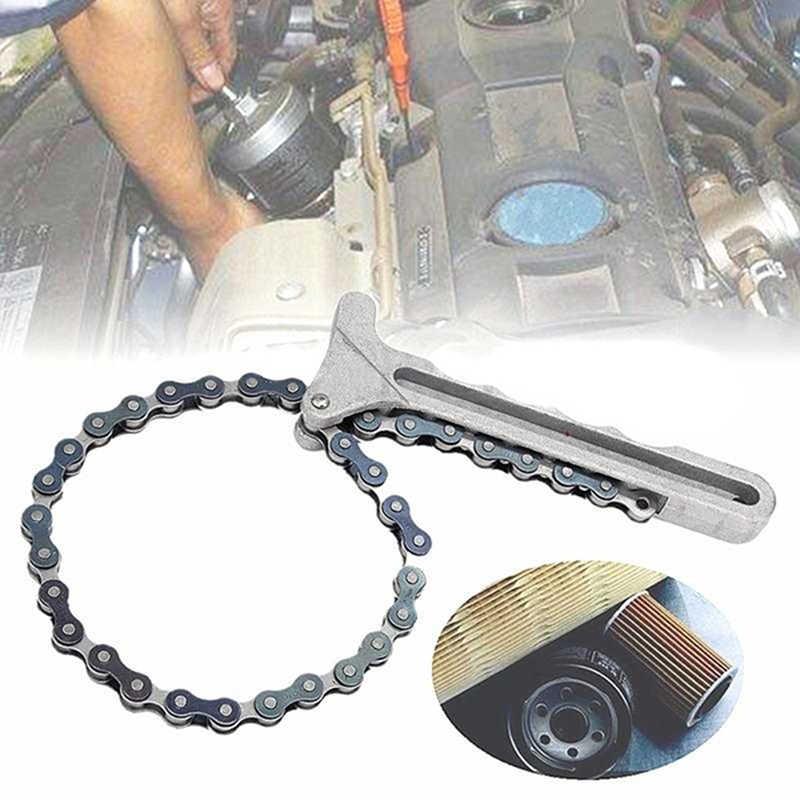 Araba motoru yağ filtresi zincir anahtarı kavrama anahtarı pense sökücü Tools1PC yağı zinciri anahtarı yağ yakit filtresi filtreleri sökücü aracı