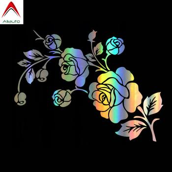 Aliauto kreatywny samochód naklejki 3D piękna róża kwiat samochody i motocykle moda dekoracyjna winylowa tablica naścienna 17cm * 13cm tanie i dobre opinie Całego ciała cartoon Klej naklejki Nie pakowane 0 01cm Kreatywne naklejki car sticker