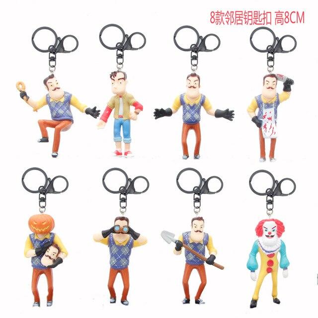 8 pièces/ensemble bonjour voisin Figurine daction jouets le voisin poupée Collection Figurine pour enfants cadeau