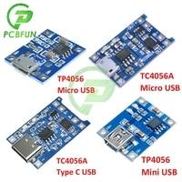 10 pz tipo C USB 5V 1A 18650 TP4056 TC4056A modulo caricabatterie al litio scheda di ricarica MICRO USB Mini USB con protezione
