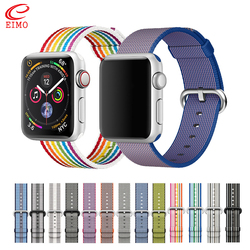 Correa de nailon tejida deportiva para apple watch band 44 mm iwatch band 42mm 40mm correa 38 mm pulsera correa para apple watch 4/3/2/1