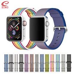 Sport woven nylon strap für apple watch band 44 mm iwatch band 42mm 40mm correa 38 mm armband armband für apple watch 4/3/2/1