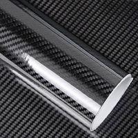 diy car 5D Car Sticker Glossy Carbon Fiber Roll Film Foil Waterproof Decorative Paper Wrap DIY Auto Accessories 50 X 200cm (1)