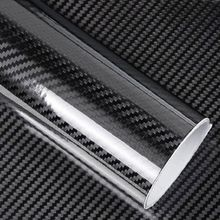 5D Car Sticker Glossy Carbon Fiber Roll Film Foil Waterproof Decorative Paper Wrap DIY Auto Accessories 50 X 200cm universal diy pvc carbon fiber decorative car sticker black 30 x 127cm