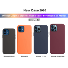 With Logo Official original Case For Apple iphone 12 11 pro XS max XR X phone case for iphone 7 8 6 6S plus SE 2020 12 Pro cover