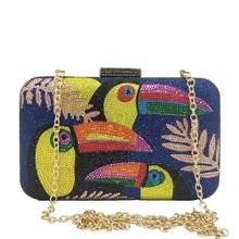 FGG – sac à main en cristal pour femmes, nouveauté, Toucan Bird, sacs De soirée en strass, boîte minaudière, pochette De Cocktail