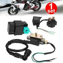 Motorcycle Accessories 50/70/90/110cc Relay Solenoid Ignition Coil CDI Starter Set For ATV Quad Kazuma High Quality excavator solenoid coil 6d102 for 20y 60 32120