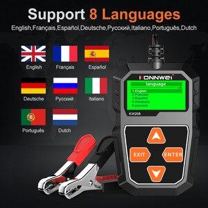 Image 2 - Konnwei kw208 testador de bateria carro 12v 100 a 2000cca bateria ferramentas para carro rápido cranking carregamento diagnóstico carregador analisador