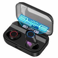 Bluetooth ワイヤレスイヤフォンハイファイステレオヘッドセット防水イヤホン Smart Power Bank 3500 とアクティブノイズキャンセル