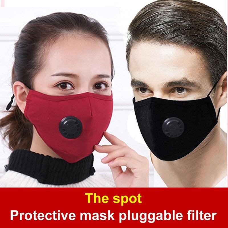 €4.18 30% СКИДКА|Моющиеся Многоразовые противозагрязняющие маски PM2.5 против гриппа респираторы для пыли хлопковые унисекс с фильтровальной бумагой|  - AliExpress