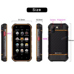 Image 3 - Nhỏ Mini Chống Sốc Điện Thoại Di Động NFC SOS Máy Bộ Đàm 3GB + 32GB 4G Chắc Chắn Điện Thoại Thông Minh Android Vân Tay mặt ID ĐTDĐ