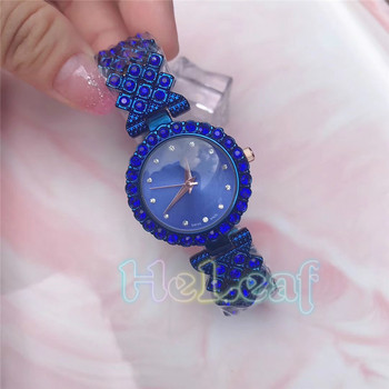 Luxury Fashion Bracelet Brand Rhinestone Watch Exquisite Gift Box Lady Silver Gold Steel Quartz Watches montre femme clock reloj brand c jewelry sets of 2 quartz watch and bracelet with gift box