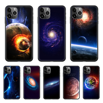 Space moon earth mars Phone Case cover For iphone 4 4S 5 5C 5S 6 6S PLUS 7 8 X XR XS 11 PRO SE 2020 MAX black Etui pretty image