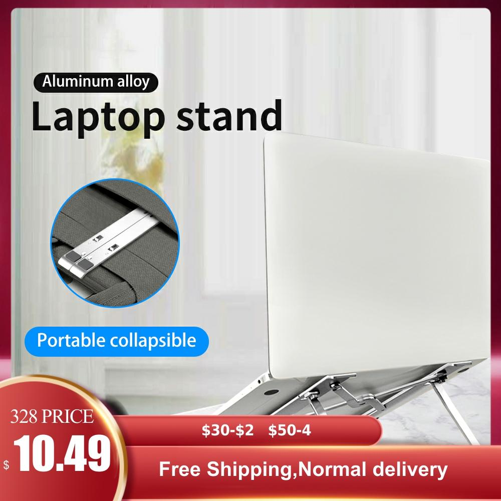 Folding Laptop Notebook Stand Riser Holder Height Adjustable Ergonomic Computer Desk To 11-17 Inch For MacBook Air Pro