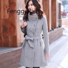 FENGGUILAI women coats  jackets winter jacket korean long coat female thick casaco feminino black grey khaki цена 2017