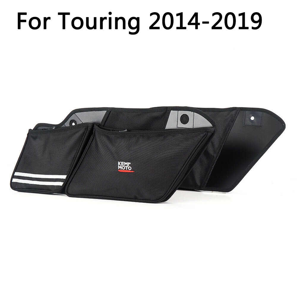 Par Motocicleta Saco Alforje Parede Caixa Organizador Forro Sacos Para Touring Road KIng Electra Glide Rua Ultra 1993-2013 2014-2019
