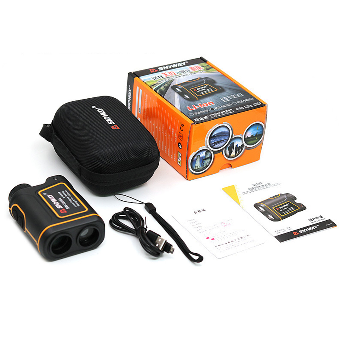 7X Measurement Range Finder Hunting Golf Rangefinder Speed Scanning Model - IP54 Waterproof (1500m/1000m/600m)