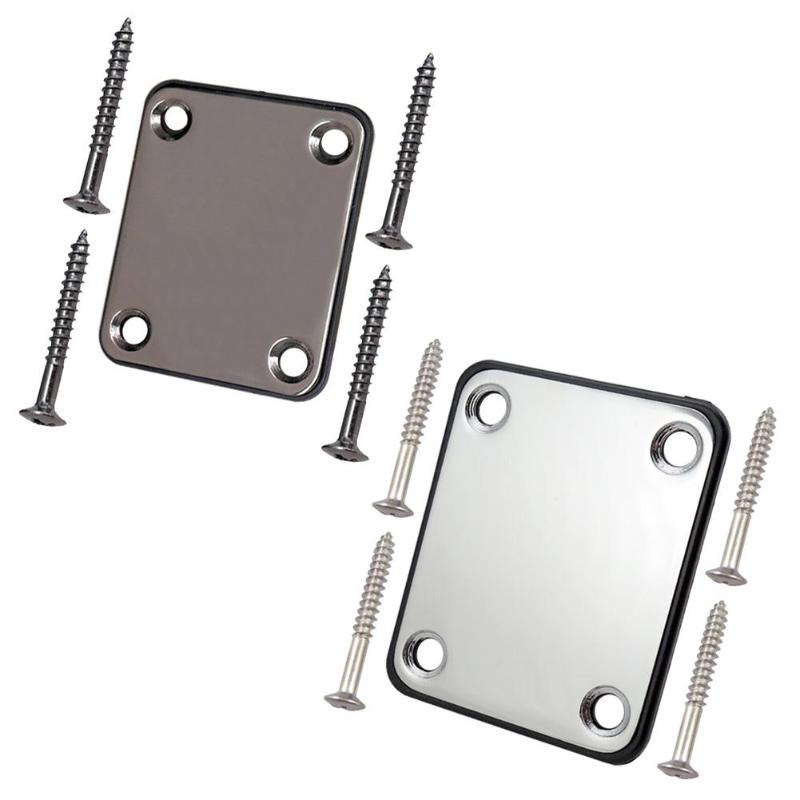 Electric Guitar Bass Rectangle Joint Reinforcement Neck Plate With Screws