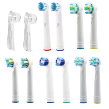 Hot Sell 4 Pcs Toothbrush Heads Replacement EB17-P/18-P/20-P/25-P Soft Bristle POM 4 Colors for 3D Oral Hygiene B Fast Shipping