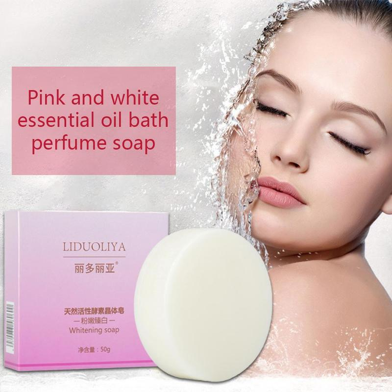 50g Moisturizing Essential Oil Soap Perfume Smell Whitening Acne Treatment Soap Pores Soap Body Pimple Cleaning Removal Car G7X2