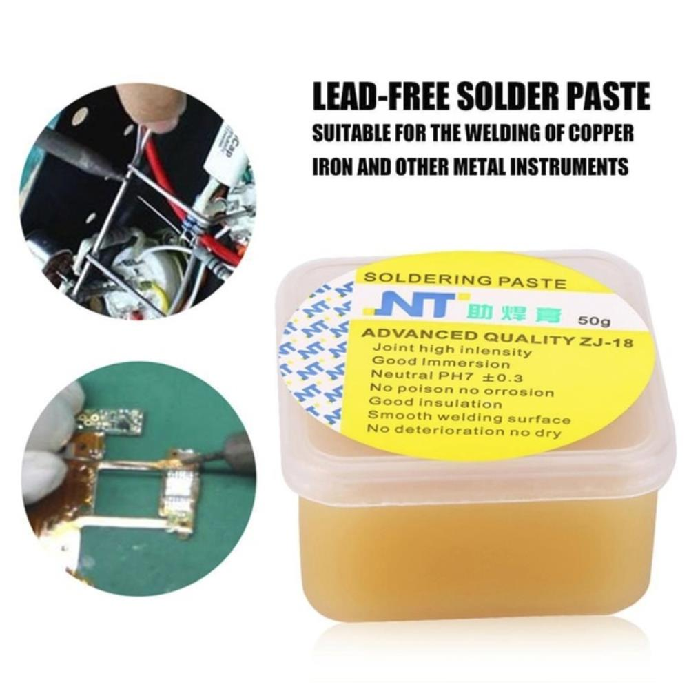 SOLEDI Rosin Practical Solid Rosin Paste Tin Solder Welding Tool Soldering Iron Head Durable Flux Rosin Repair Yellow Sturdy