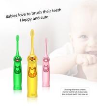 Children Toothbrush Cartoon Sonic Electric Toothbrush Oral Hygiene Teeth Care Tooth Whitening Brush Kids Battery Power Brush 4.7 цена и фото
