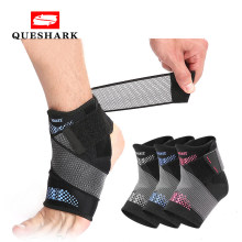 Pressuried Weightlifting Ankle Support Brace Foot Bandage Sprain Prevention Sports Fitness Running Basketball Ankle Guard Band(China)