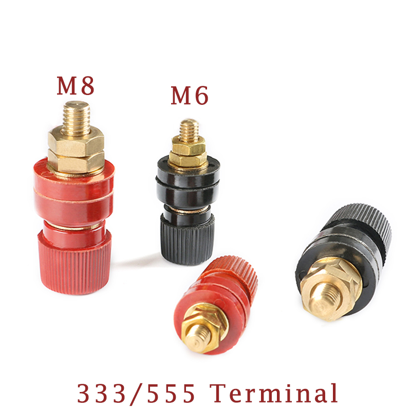 1Pcs 6MM 8MM Copper Posts 333 555 Terminal Blocks Power Supply Terminals Welding Machine Inverter Post Connector