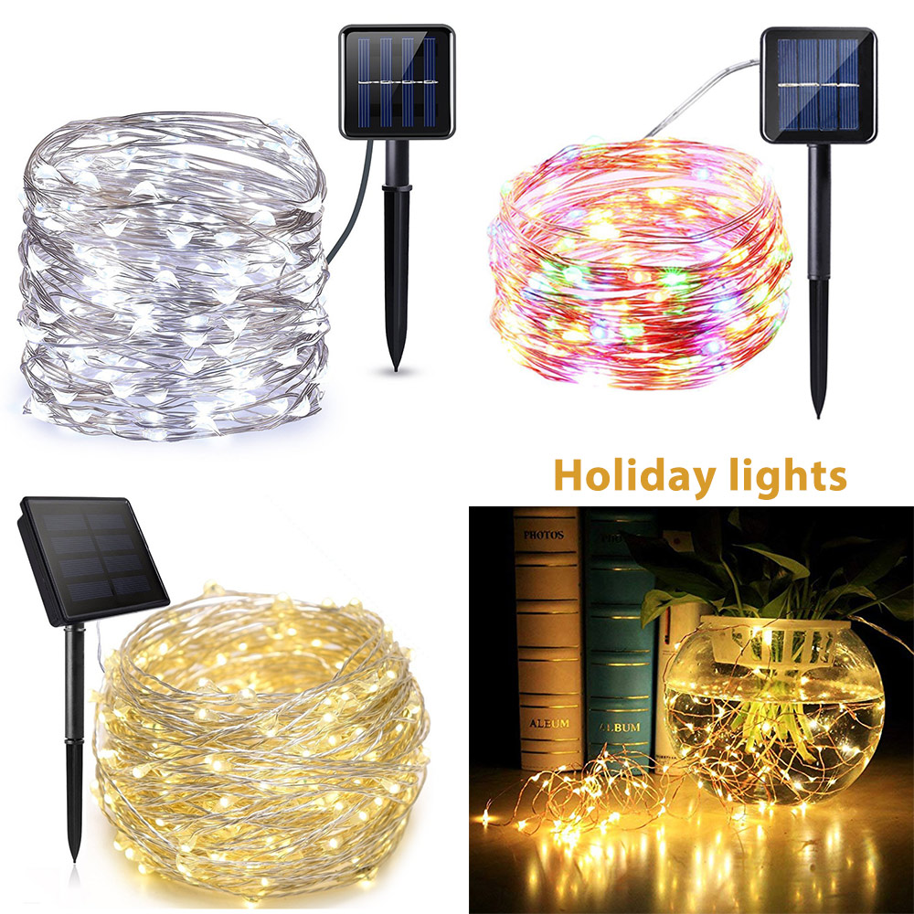 solar lamp led outdoor 7m 32m led fairy lights holiday christmas garlands solar garden party waterproof lights LED String Lights