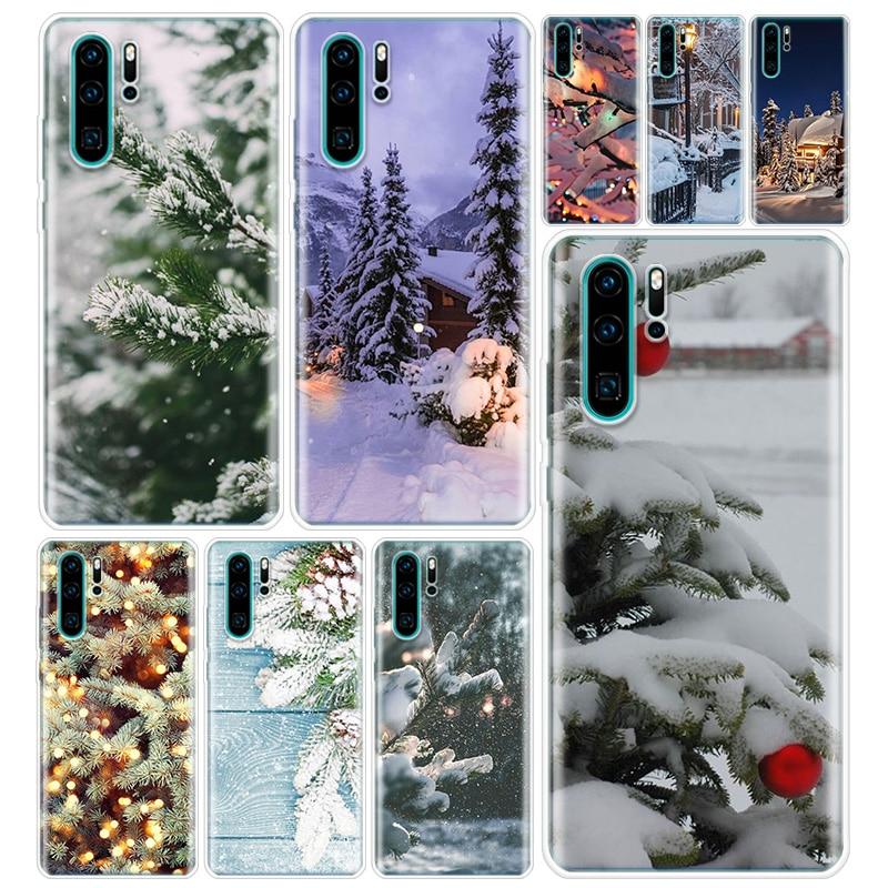 Зимний Рождественский костюм для телефона чехол с отверстием для экрана для Huawei Y5 Y6 Y7 Y9 2019 Honor 9 10 20 Lite 8S 8A 8X 9X 7A 7X 20i V30 V20 Pro Coque|Бамперы|   | АлиЭкспресс
