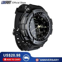 Nowy LOKMAT SmartWatch sport 50m wodoodporny przypomnienie o połączeniu Bluetooth inteligentny zegarek dla mężczyzn na ios i telefon z systemem android w Inteligentne zegarki od Elektronika użytkowa na