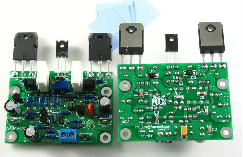 2pcs NAIM NAP250 15V-40V MOD Stereo Power Audio HIFI Amplifier Amplificador 80W DIY Kits And Finished Baord A5-013