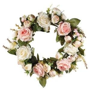 Image 2 - Adeeling guirlande de fleurs classiques artificielles, pour la maison et la chambre, en linteau décoratif de jardin