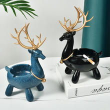 Nordic ceramiczna popielniczka spersonalizowana głowa jelenia popielniczka kreatywny salon luksusowe popielniczka Cenicero Home Decoration DA60YHG cheap CN (pochodzenie) ashtray ROUND Przenośne Resin Nordic style