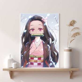 Abstract Kamado Nezuko Nordic Decoration Home Canvas Art Wall Pictures Baby Kids Room Decor Creative Home Decoration image