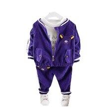 Childrenl Baby Girls Boys Clothes Toddler Clothing Infant Autumn Suits Cartoon Coat T Shirt Pants 3Pcs/sets KIds Leisure Costume