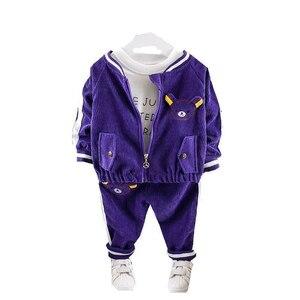 Image 1 - Childrenl Baby Meisjes Jongens Kleding Peuter Kleding Baby Herfst Suits Cartoon Jas T shirt Broek 3 Stks/sets Kids Leisure Kostuum