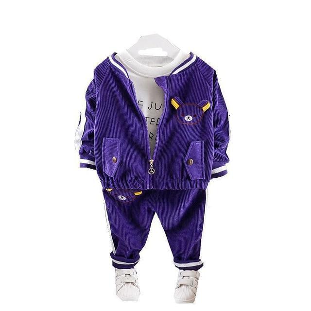 Childrenl Baby Meisjes Jongens Kleding Peuter Kleding Baby Herfst Suits Cartoon Jas T shirt Broek 3 Stks/sets Kids Leisure Kostuum