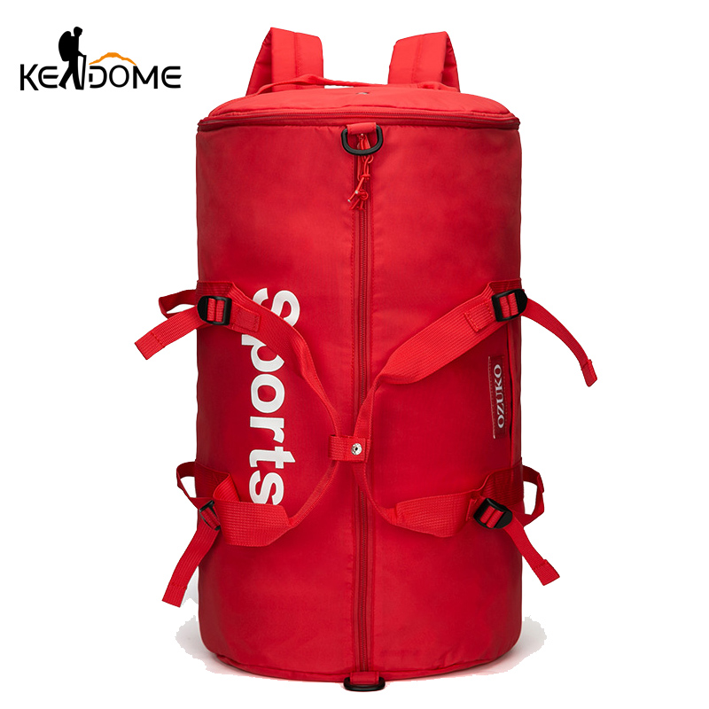 Women Red Gym Bag Training Fitness Shoulder Bags Travel Weekend Luggage Handbag Tote Tas Sac De Sport Lady Blaso Sporttas XA88D