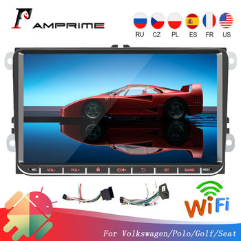 AMPrime Android 9'' Car Multimedia Player 2GB/1GB RAM GPS Navigation 2 din Autoradio 2din MP5 Car Radio For Volkswagen Universal image