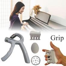 Ручной кистевой эспандер предплечья сцепление тренировки комплект Grip обучающий комплект Регулируемый кистевой эспандер палец тренажер для мышц