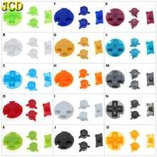 Jcd 1 conjunto colorido substituição botões conjunto substituição para gameboy bolso gbp em fora de um b d almofadas botões