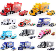 Asli Disney Pixar Boutique Mobil Mac 3 Lightning McQueen Paman Truk 1:55 Casting Model Mainan Anak Hadiah Natal(China)