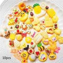 10Pcs/Pack Artificial Food Snacks Fruit Cabochon Toys DIY Phone Case Materials Handmade Resin Crafts Scrapbooking Accessories(China)