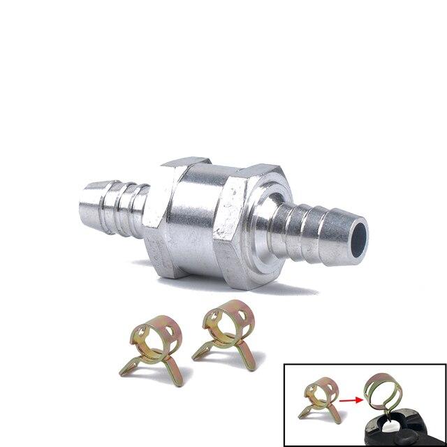 3PCS/Set  Aluminium Alloy Fuel Non Return Check  One Way Petrol Diesel  Spring Clip